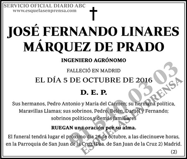 José Fernando Linares Márquez de Prado
